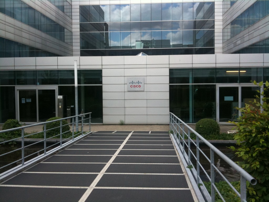 The entrance of the Cisco Campus in Brussels
